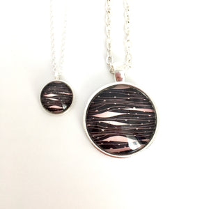 Matching Waves Necklace Set