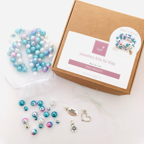 Blue Best Friend DIY Stack Bracelet Kit