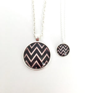 Matching Zigzag Necklace Set