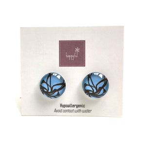 Blue Impressions Stud Earrings