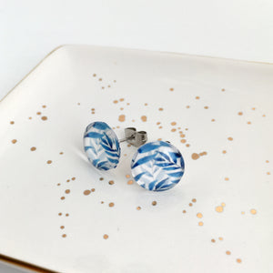 Blue Happiness Stud Earrings