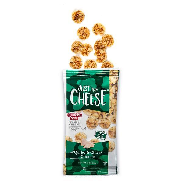 Just The Cheese® - Garlic and Chive Minis - 1 Master Case (128 0.5oz packs)-Cheese Minis-Just The Cheese