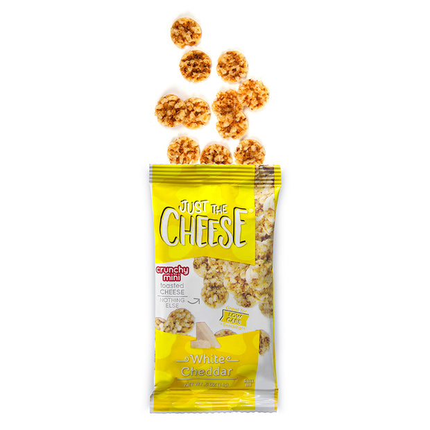 Just The Cheese® - White Cheddar Minis - 16 Half-Ounce Packs-Cheese Minis-Just The Cheese