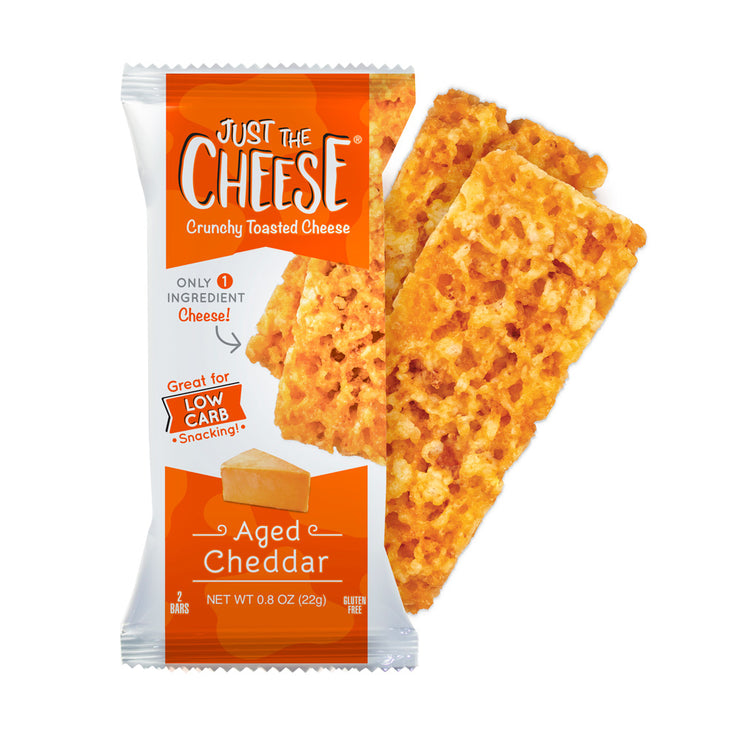 Just The Cheese® - Aged Cheddar Bars - 1 Master Case (10 Twelve-Bar Display Boxes – 120 Packages)-Cheese Bars-Just The Cheese