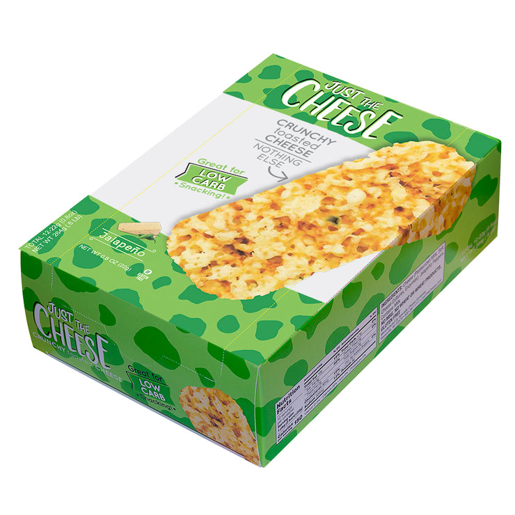 Just the Cheese® - Jalapeño Cheese Bars - 1 Master Case (10 Twelve-Bar Display Boxes – 120 Packages)-Cheese Bars-Just The Cheese