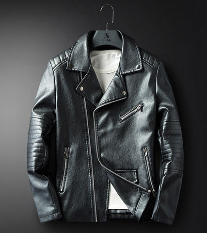 Stylish Leather Men's Jacket-Men's Quarter