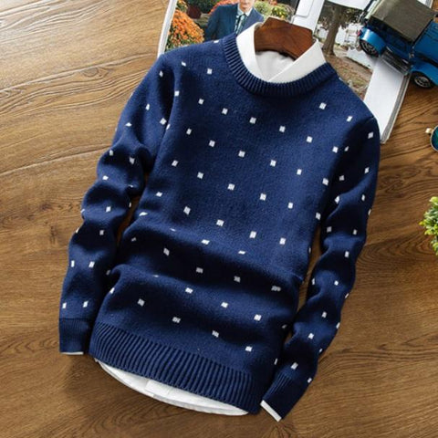 Dotted Style Sweater-Men's Quarter