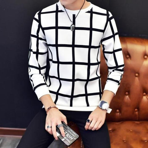 Modern checkered sweatshirt - Men's Quarter