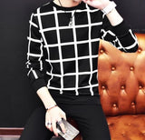 Modern checkered sweatshirt-Men's Quarter