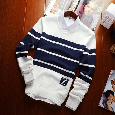 Striped colored sweater-Men's Quarter