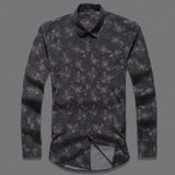 Modern Floral Casual Shirt - Men's Quarter