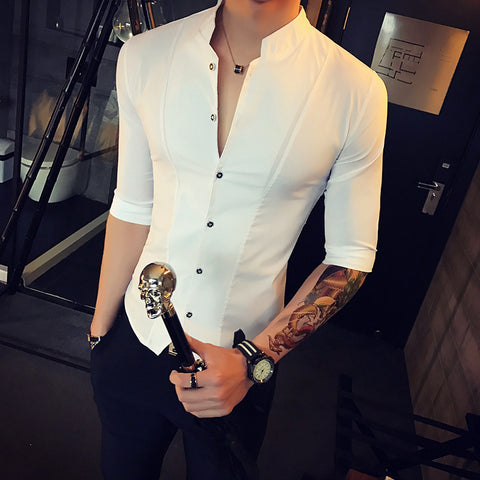 Contemporary Slim-Fit Vest Shirt