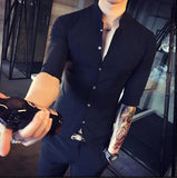 Contemporary Slim-Fit Vest Shirt-Men's Quarter
