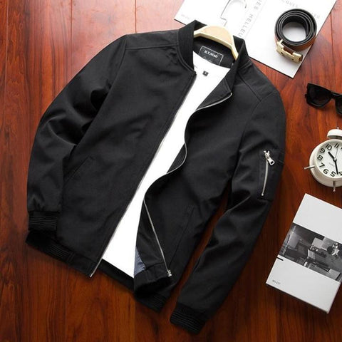 Bomber Jackets Man Casual-Men's Quarter