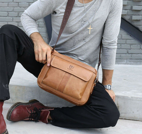 Genuine Leather Men Bag - Men's Quarter