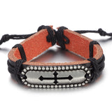 Leather bracelet-Men's Quarter