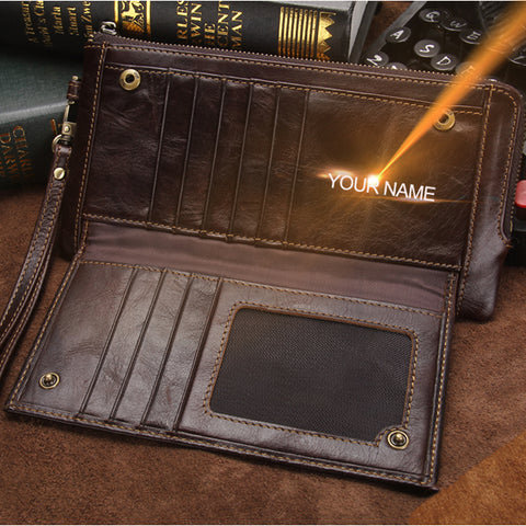 Elegant Men'S Clutch Free engraving-Men's Quarter