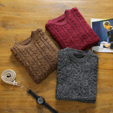 Knitted Pullover-Men's Quarter