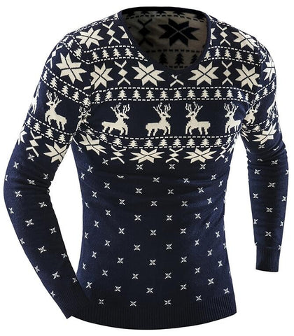 Sweater with deers - Men's Quarter