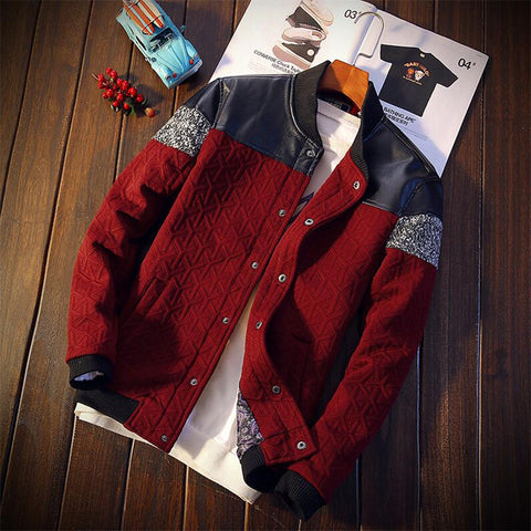 Patchwork Bomber Jacket (3 colors) - Men's Quarter