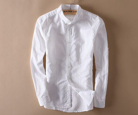 Linen shirt for business-Men's Quarter