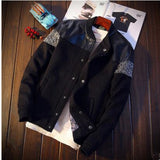 Patchwork Bomber Jacket (3 colors)-Men's Quarter