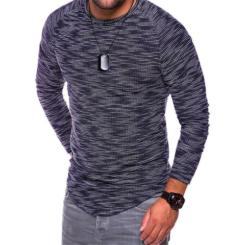 Striped Slim T-shirt-Men's Quarter
