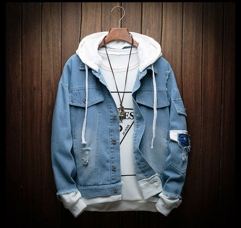 Hooded Denim Jacket - Men's Quarter
