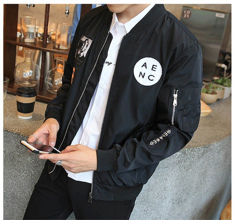 New Men Bomber Jacket available 3 Colors - Men's Quarter