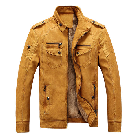 Men Leather Jacket Male - Men's Quarter