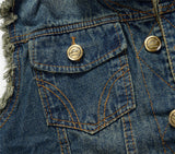 Fashionable Denim Vest-Men's Quarter