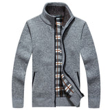 Winter sweater with zipper available 5 colors - Men's Quarter