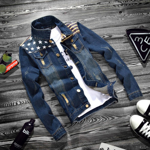 Denim jacket New style-Men's Quarter