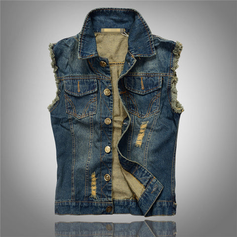 Fashionable Denim Vest