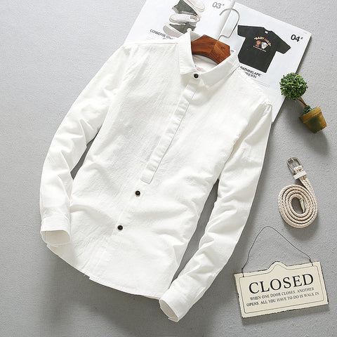Solid Cotton Shirts-Men's Quarter