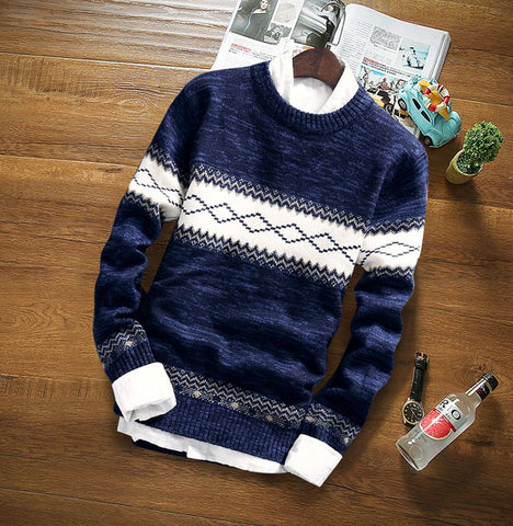 Modern Knitted Sweater-Men's Quarter