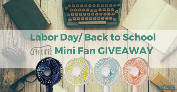 Artifit Mini Fan GenHigh GenHigh Tech Giveaway Labor Day Back to School