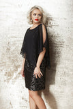 Black Copper Knit Dress 189360