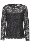 Fie Lace Blouse Iron Gray