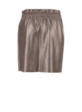 Faux Leather Metallic Skirt