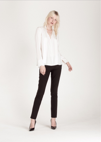 Celie Silk Blouse White
