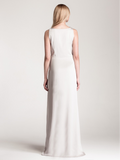 Viola Evening Dress Pearl Grey