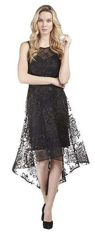 189178 Black Woven Dress