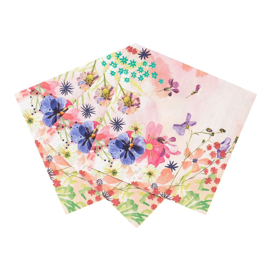 Blossom Girls Cocktail Napkins (12pcs) (Add to Your Tea Set)