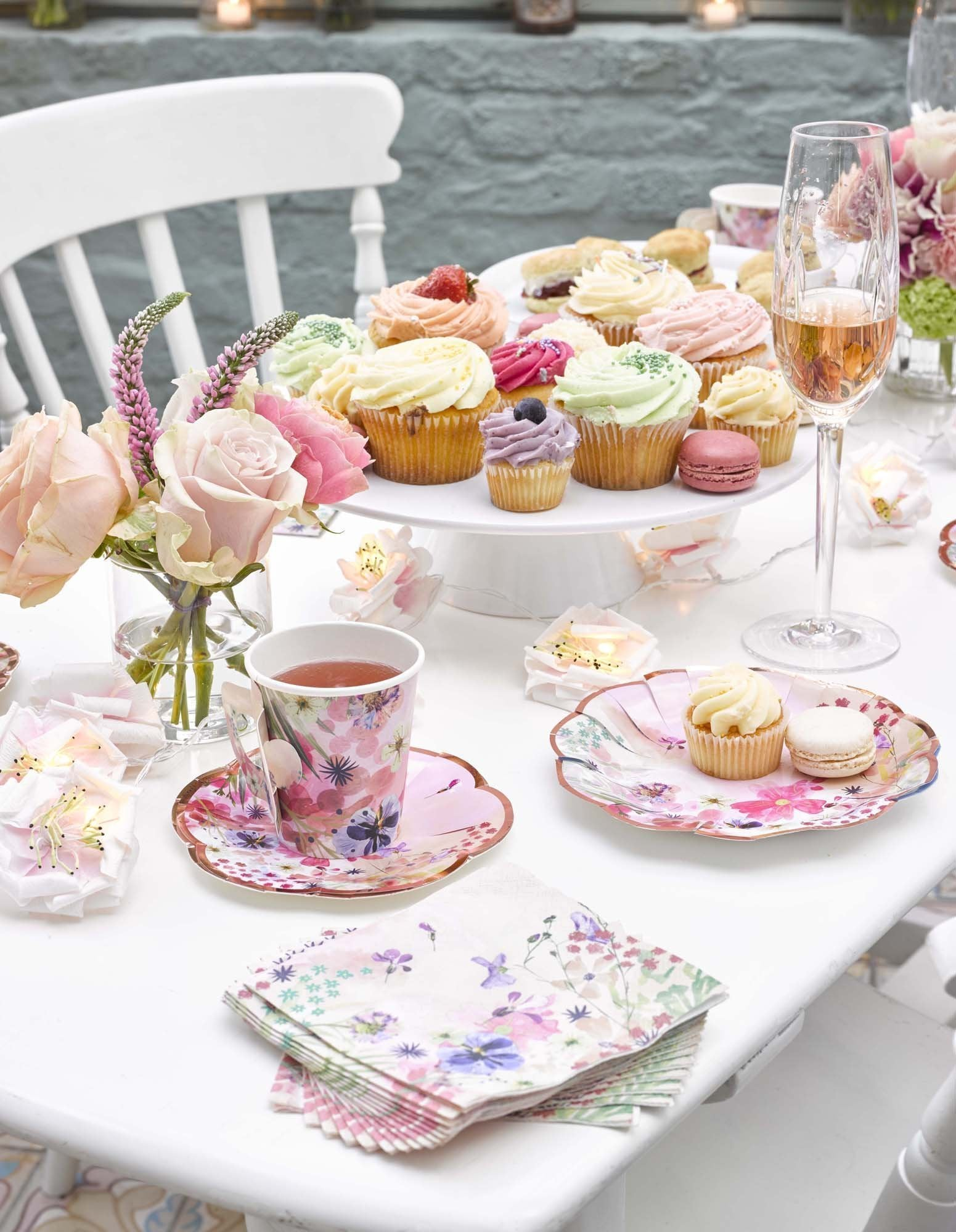 Blossom Girls Paper Plate (12pcs) (Add to Your Tea Set)