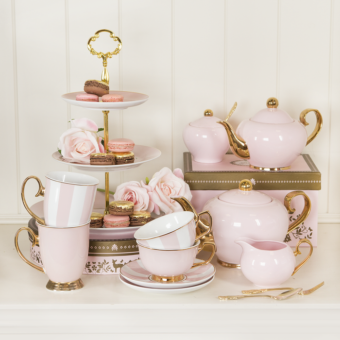 Teacup Powder Pink - Tea cup & Saucer