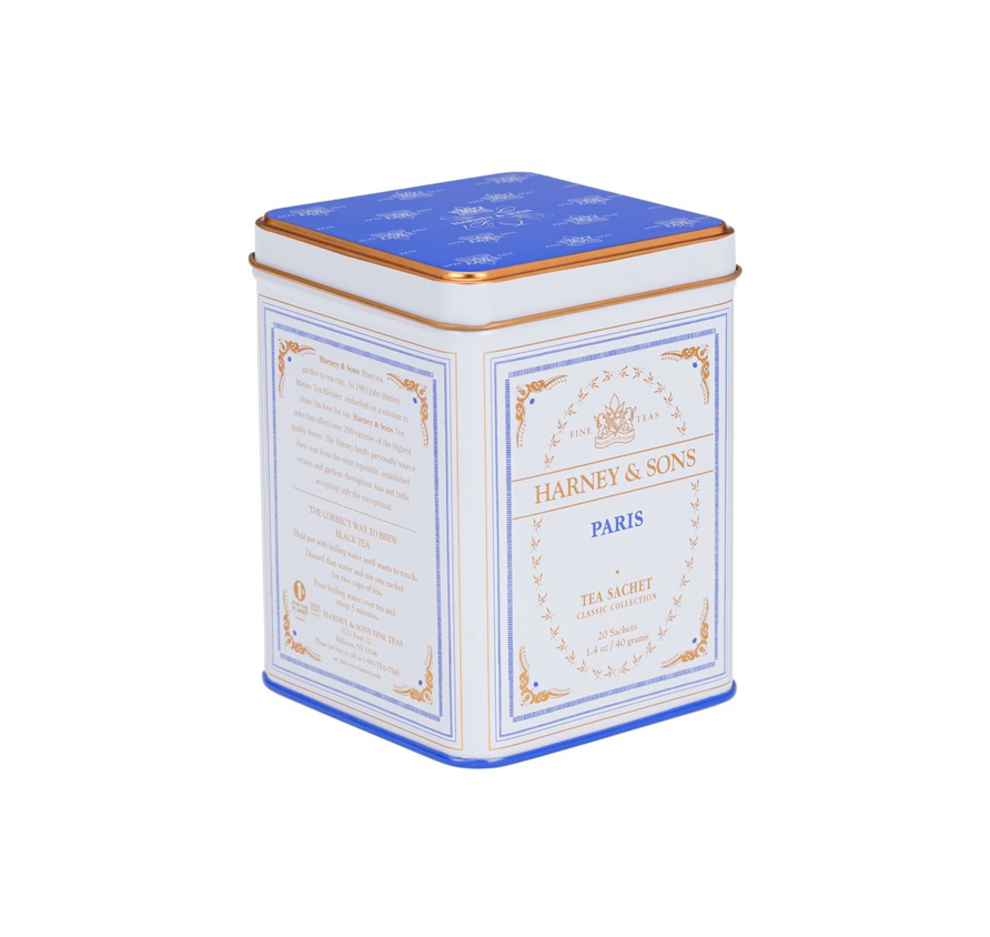 Harney & Sons - Paris (Fruity black tea with vanilla, caramel and bergamot) - Tin of 20 Sachets