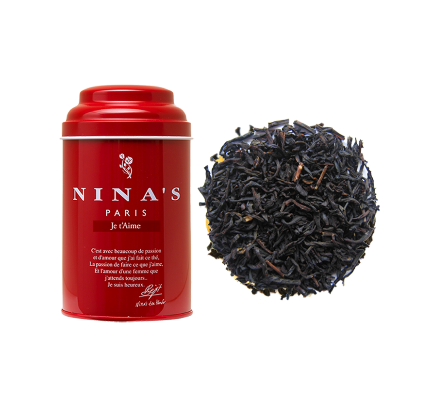 Nina's Paris - Je t'aime (Black tea with vanilla, caramel) - Tin of Loose Tea 100g