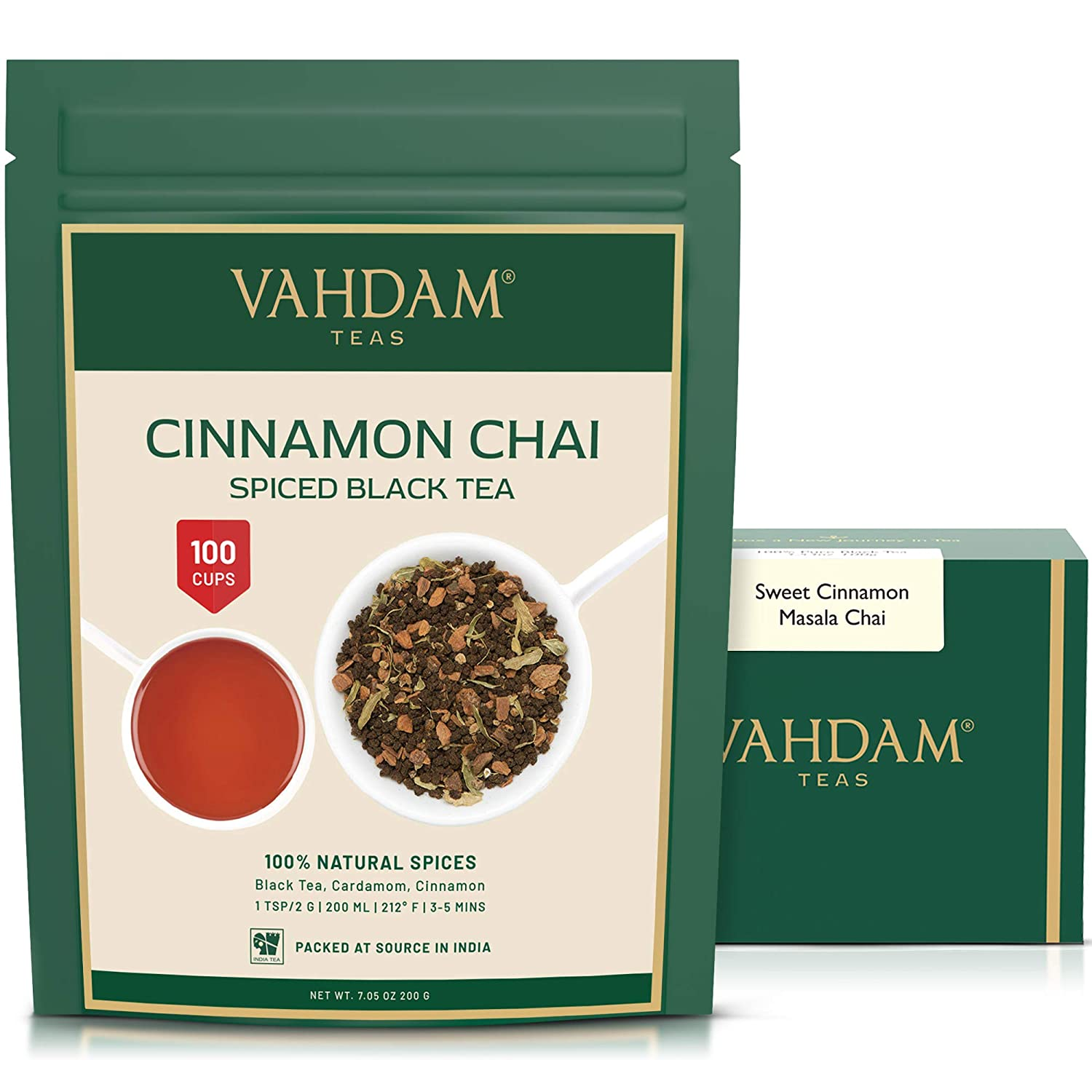 Vahdam tea Cinnamon Masala Chai Tea