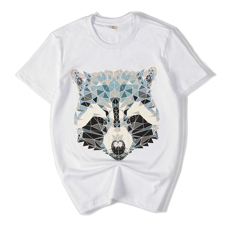 3D Raccoon Painted T-shirt